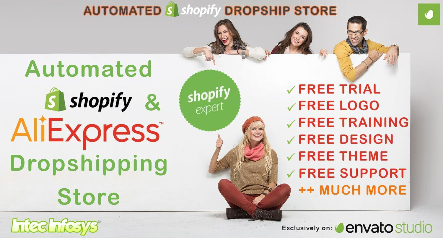 Automated Shopify Dropship store by intecinfosys - 113029