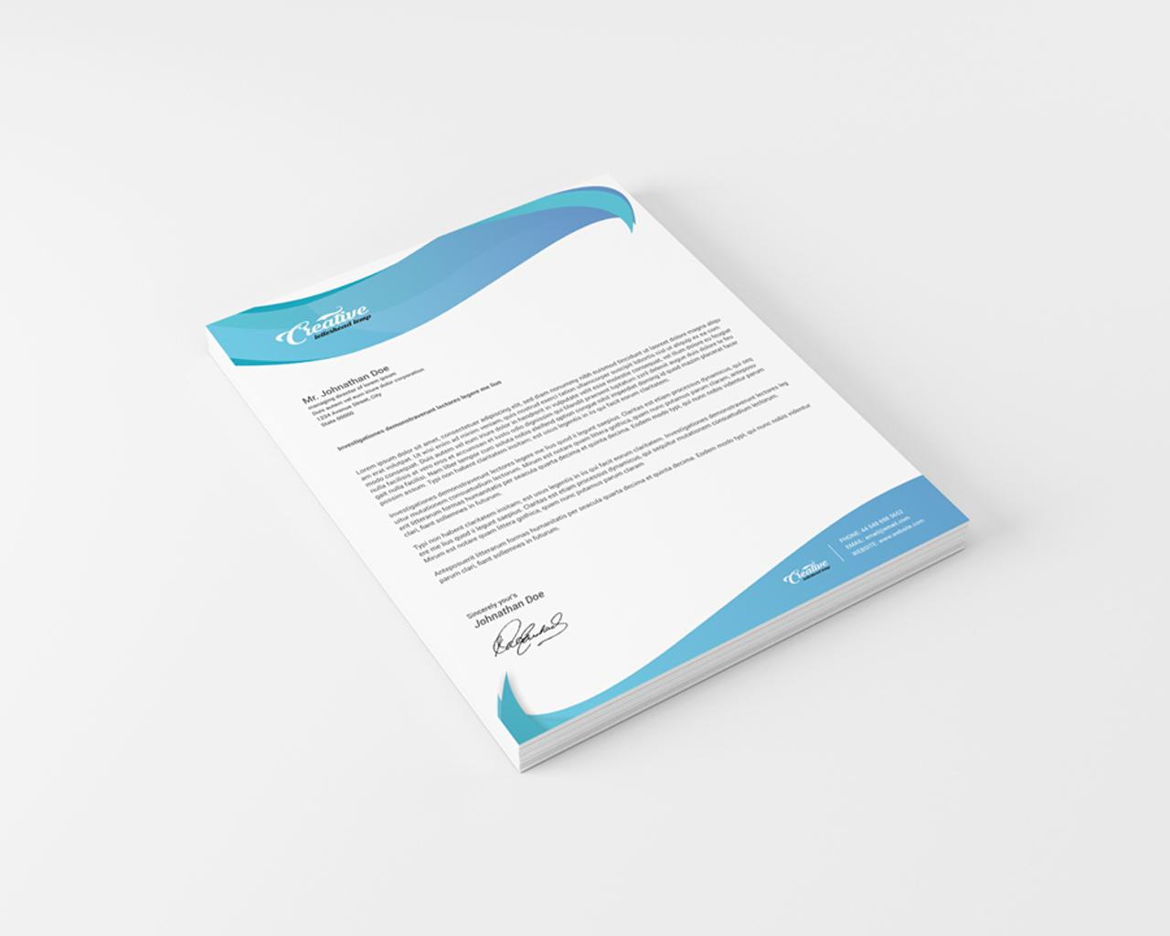 Professional Letterhead Design Service by CreativeShop7 - 95368
