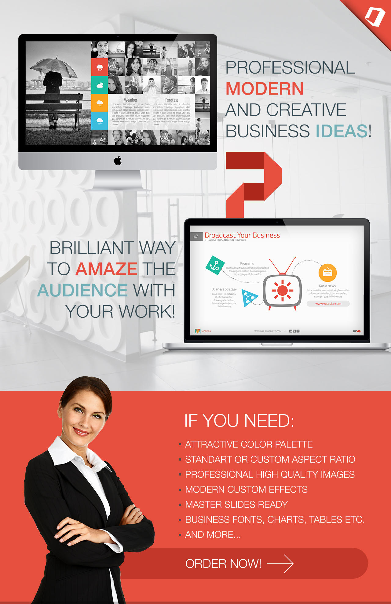 Modern & Attractive Powerpoint Design - Working Solution by Bandidos - 63198