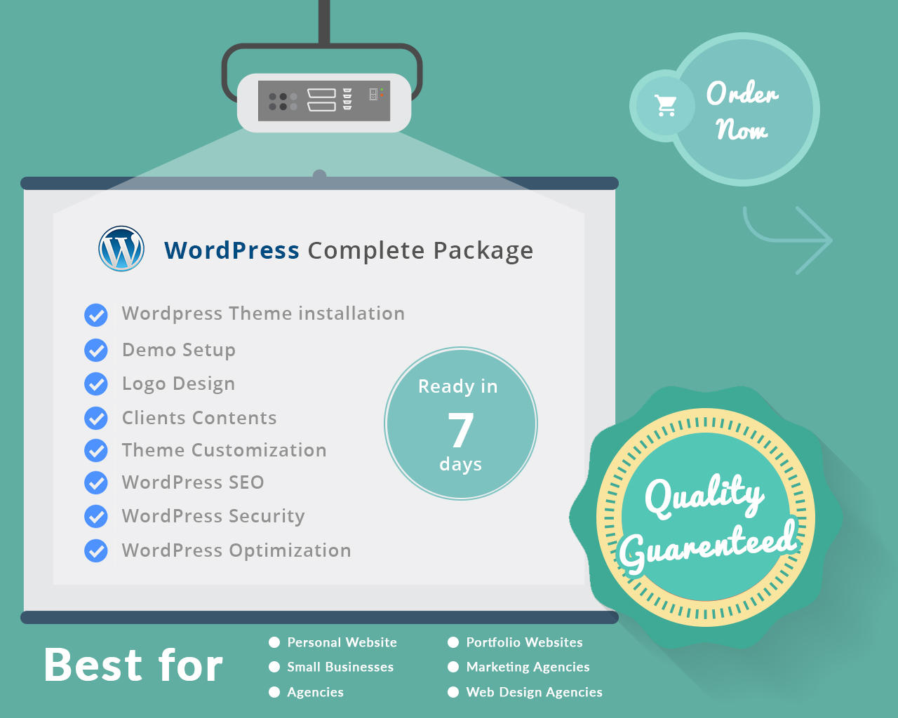 Professional & Creative WordPress Website Complete Package by iintellect - 96789