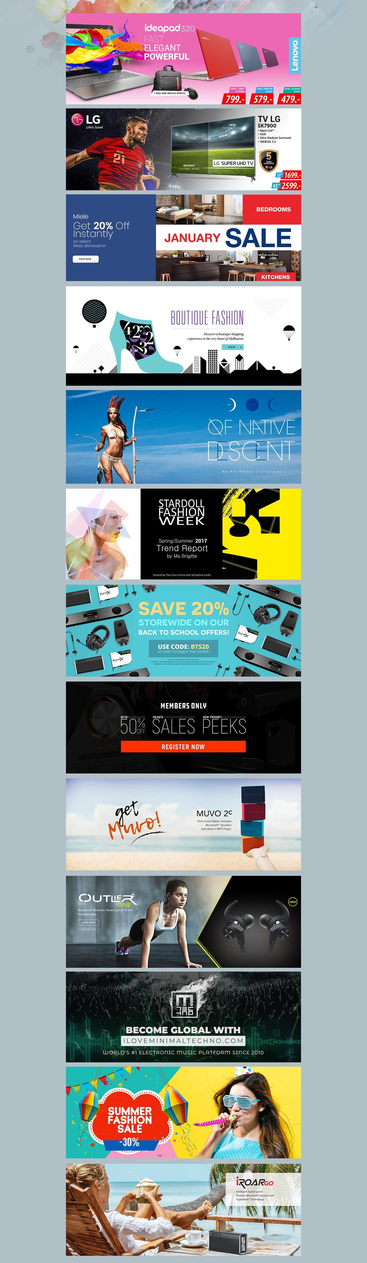 Modern Homepage Banner for Slider or Fb Cover Design by Bandidos - 113295