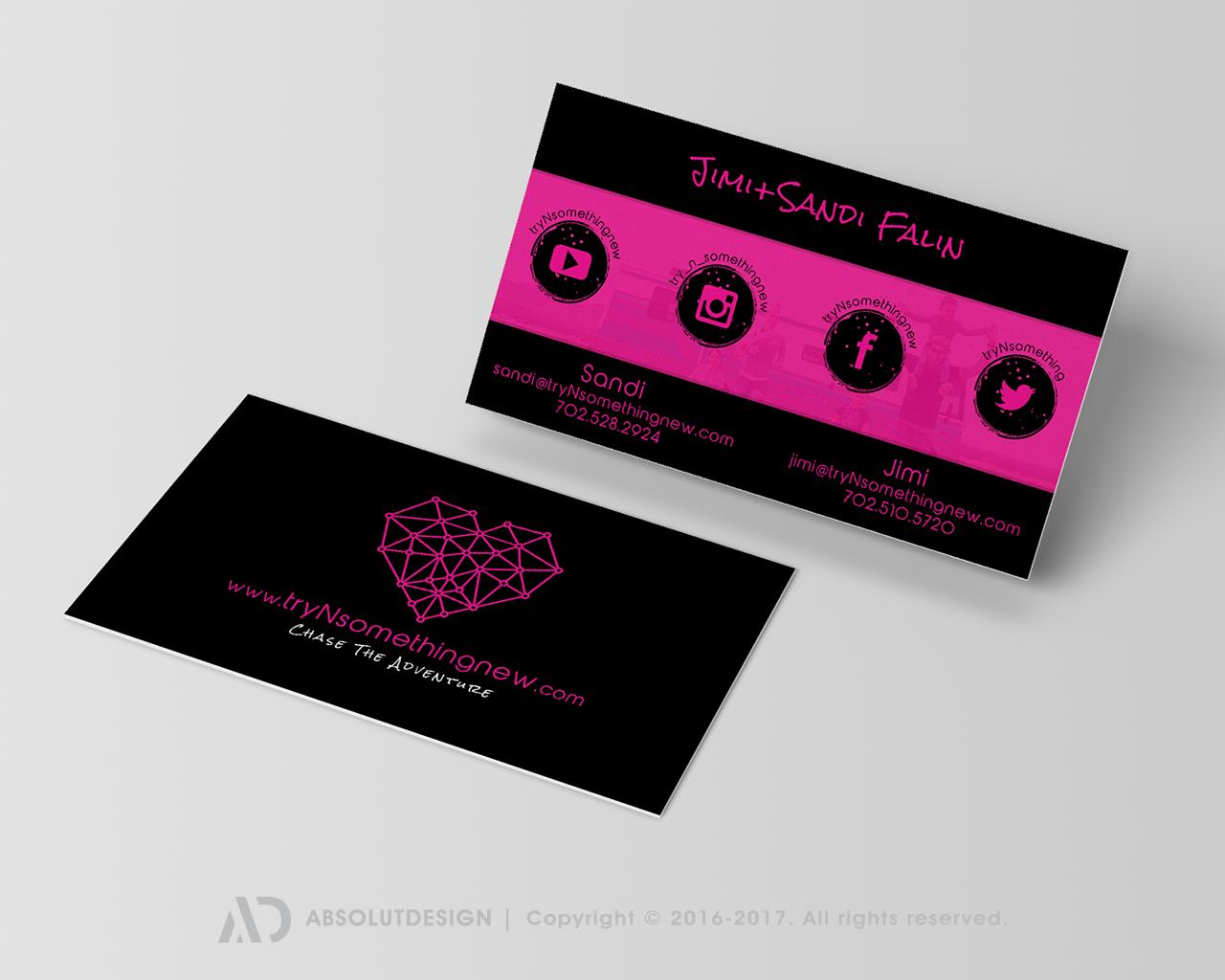 Business card design services on envato studio double sided business card design magicingreecefo Images