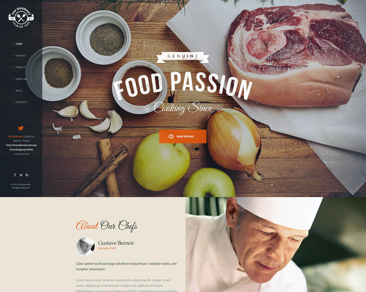 PSD to  Wordpress theme only for 350 (Only Home , 1 inner page, contact , blog) by whitgold - 77025