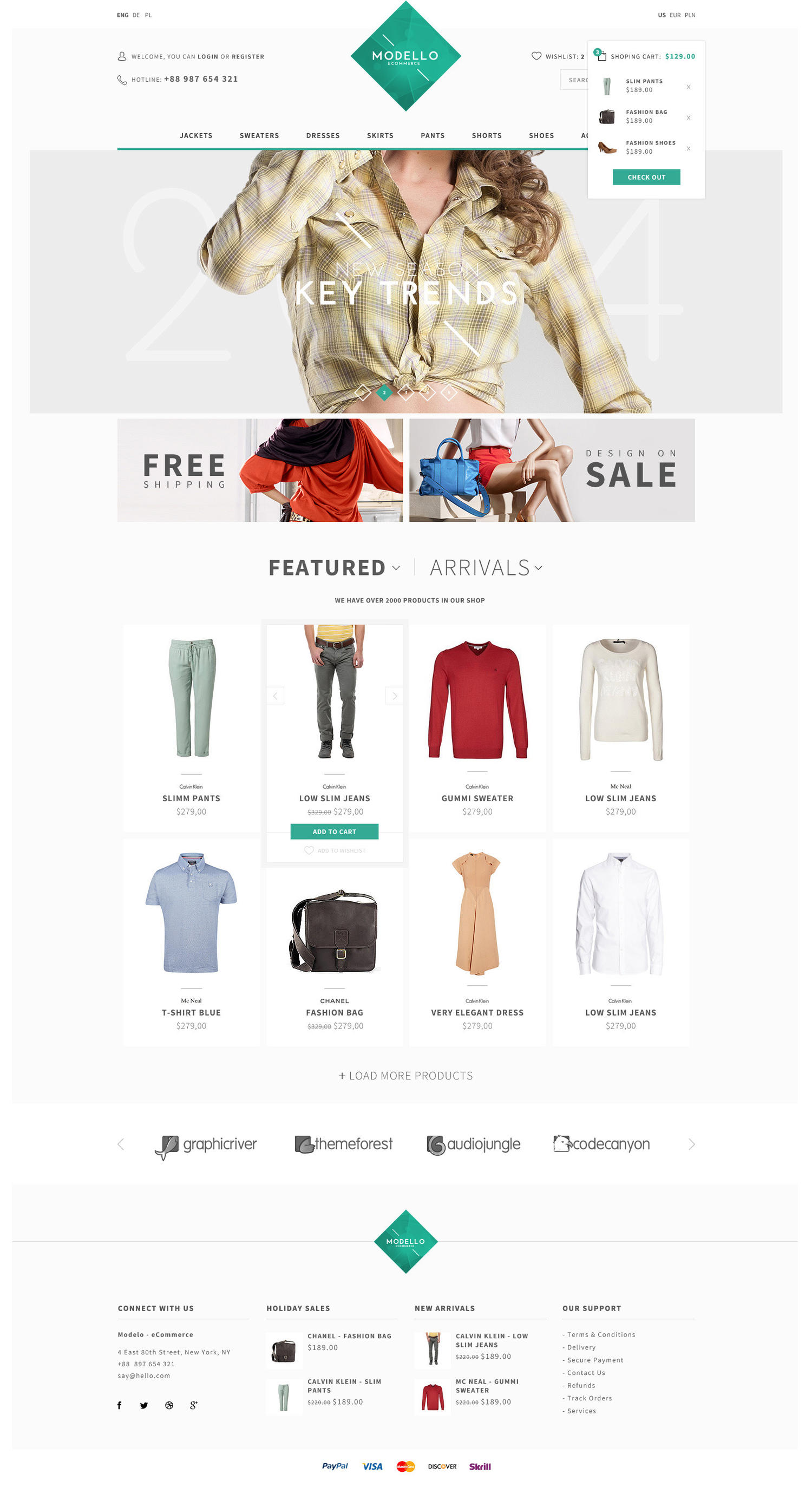 eCommerce PSD to Responsive HTML Layout (HTML5/CSS3) by LeAmino - 40359