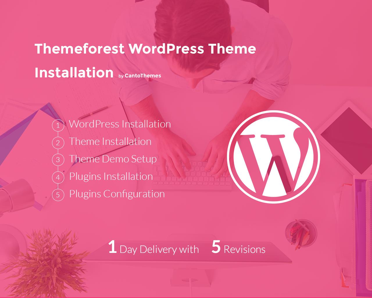Themeforest WordPress Theme Installation (Demo & Plug-in Set-up)  by CantoThemes - 76781