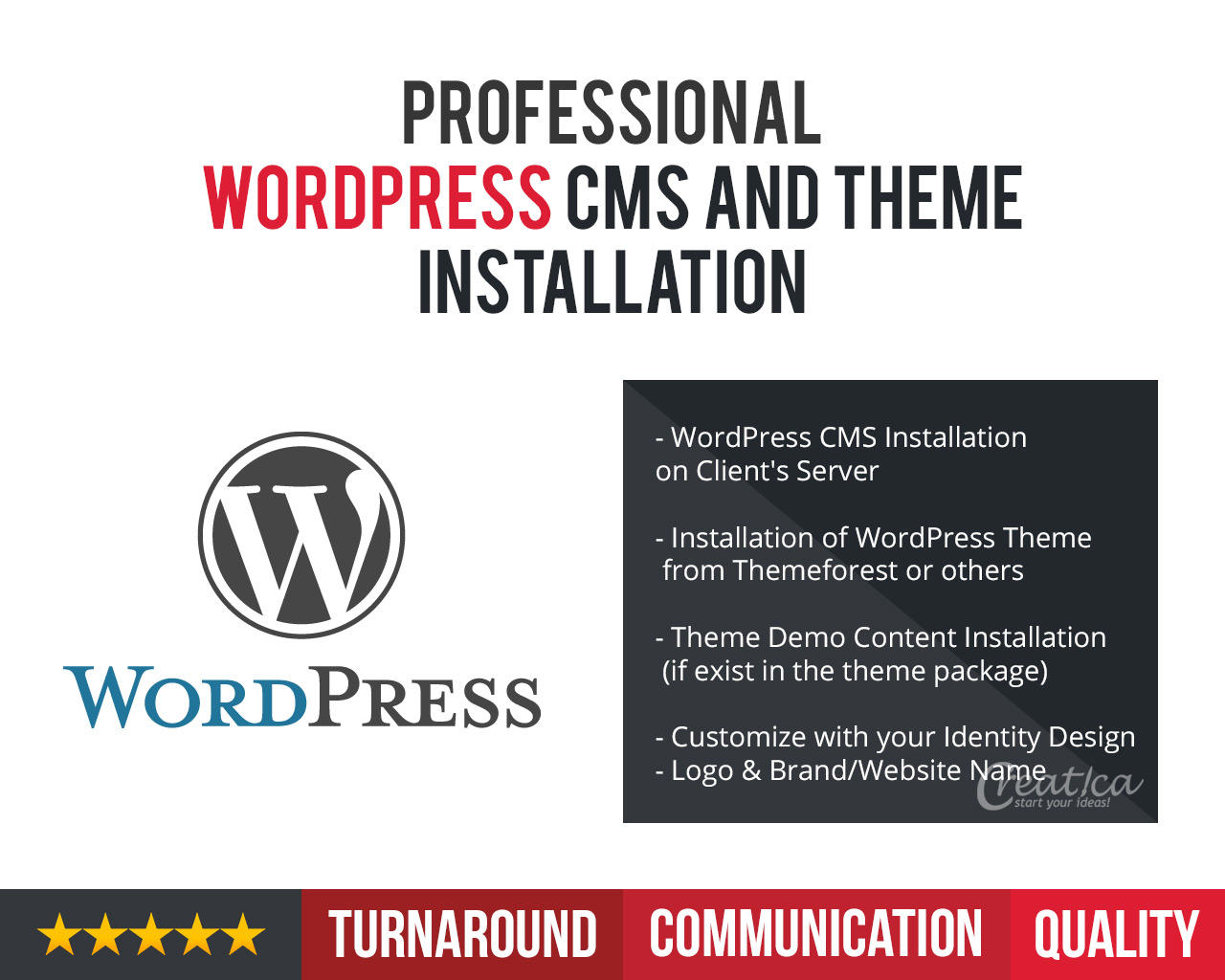 Installation of Wordpress CMS and Theme by CreaticaStudio - 109337