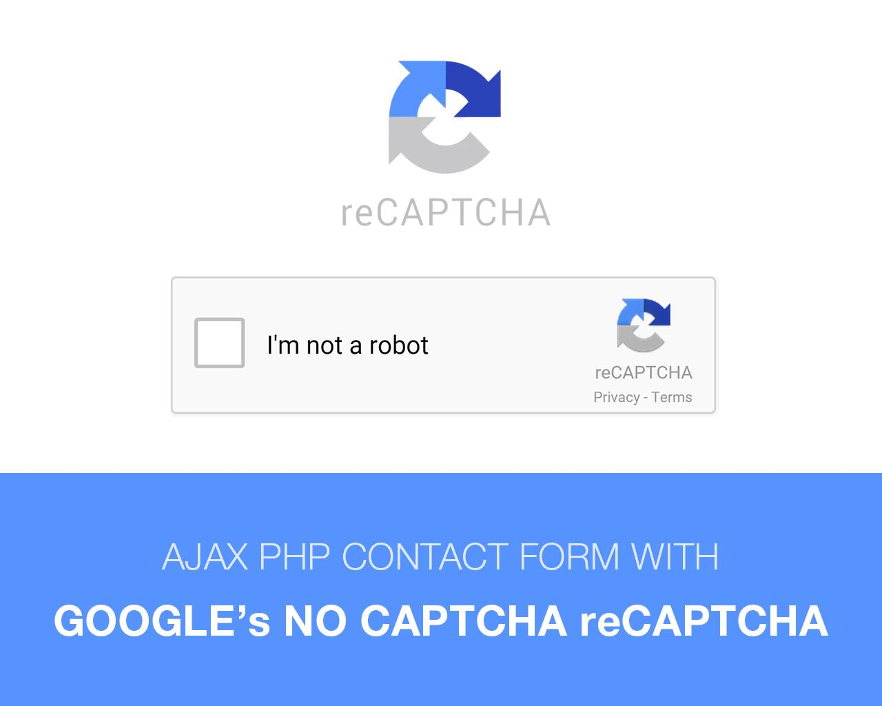 PHP Contact Form with Google No Captcha Recaptcha by surjithctly - 89787