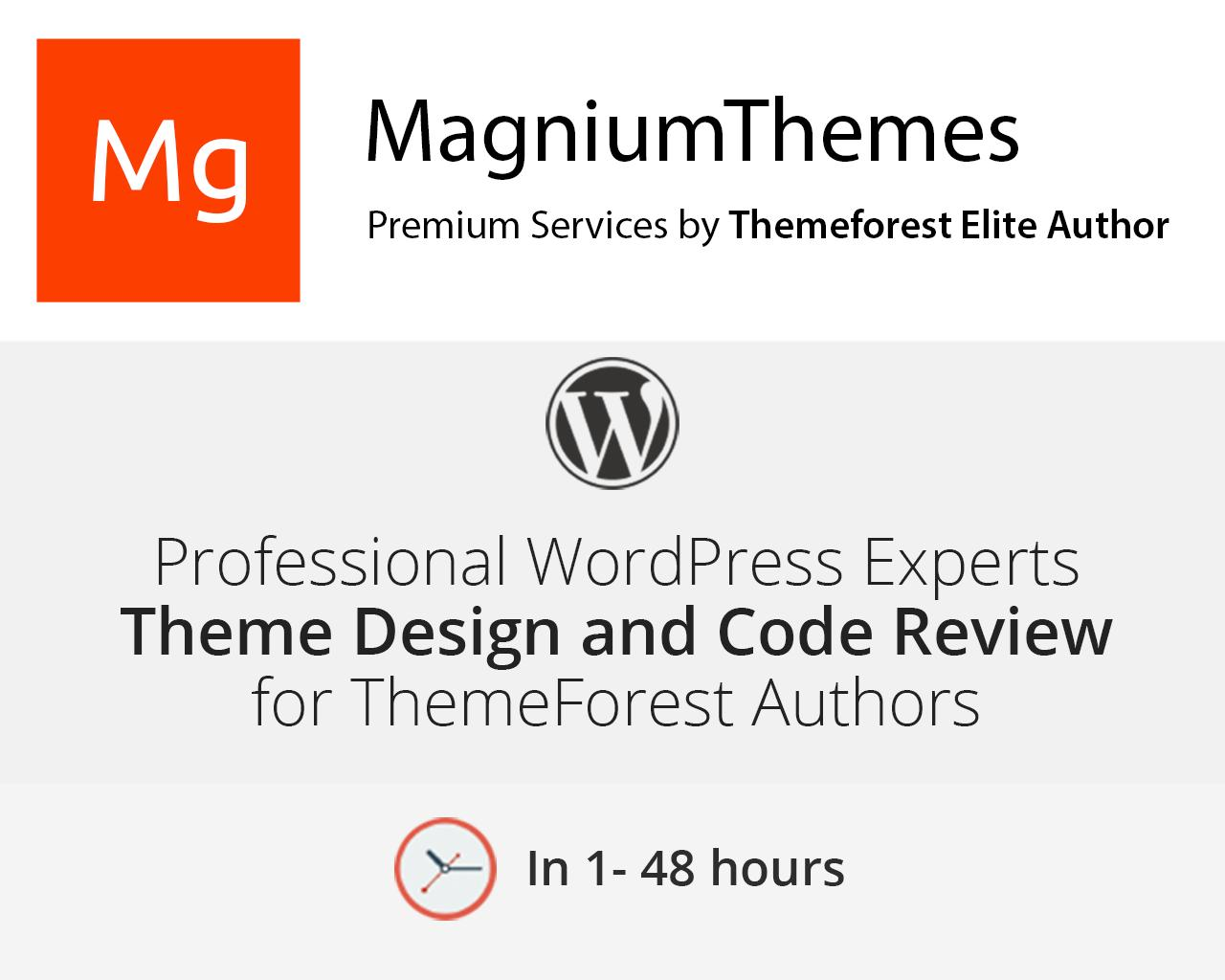 WordPress Theme Code & Design Review for Themeforest Authors by dedalx - 105774