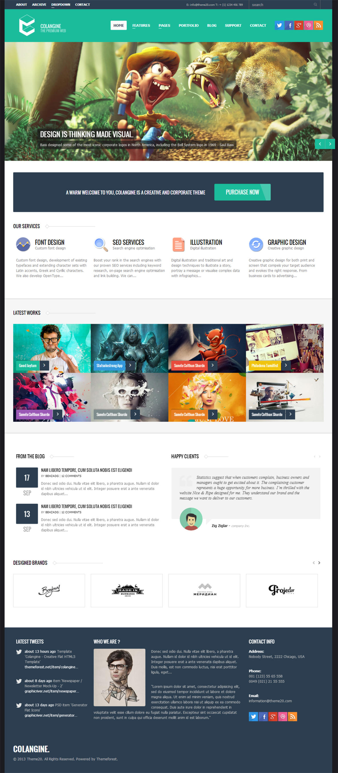 PSD to HTML5 by Codevz - 17326