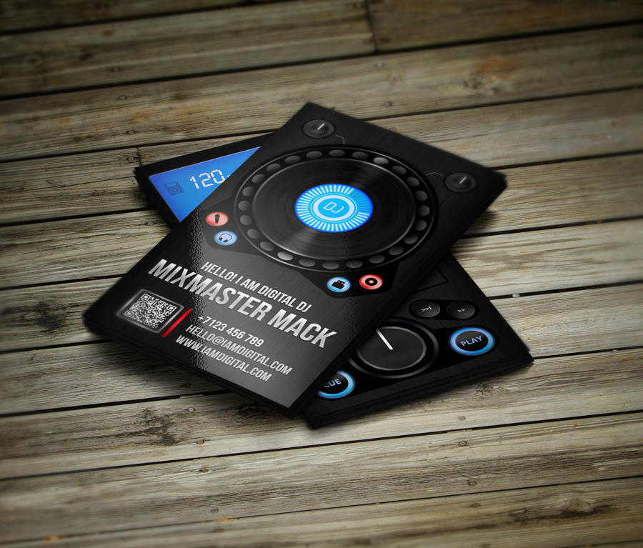 Creative unique dj business cards by vinyljunkie on envato studio creative unique dj business cards reheart Choice Image