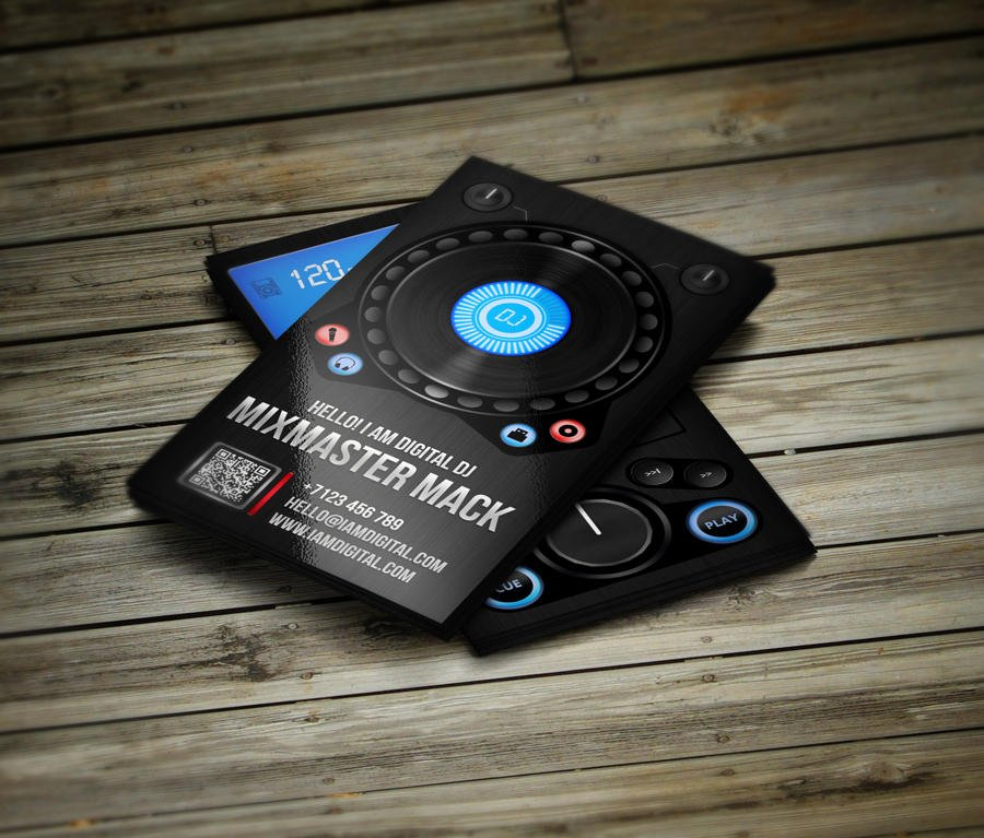Creative unique dj business cards by vinyljunkie on envato studio creative unique dj business cards reheart