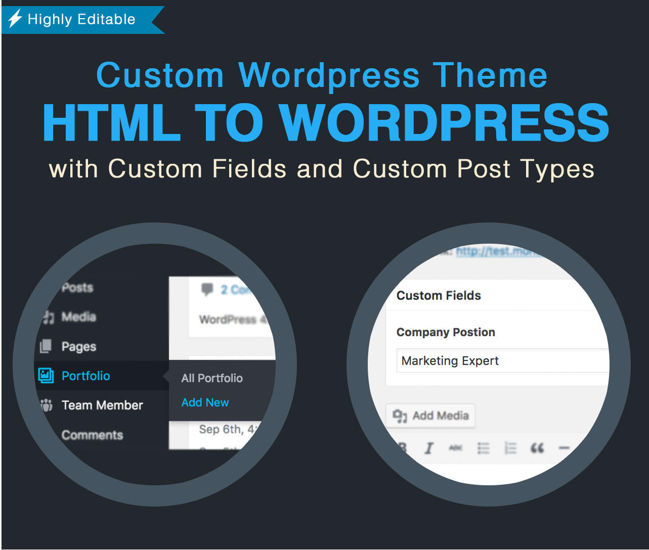 Convert HTML to WordPress Theme by admiral_adictus - 102716
