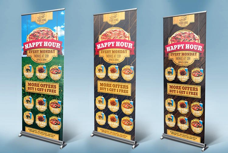 Professional Signage Roll Up Banners and BillBoard Design by GilleDeVille - 56703