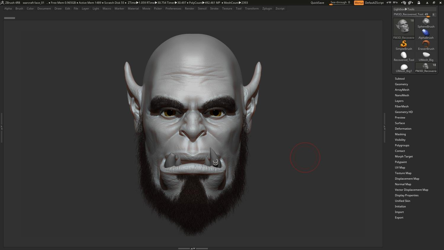 Zbrush Realistic 3D sculpting  by kushal_chaudhari - 112545