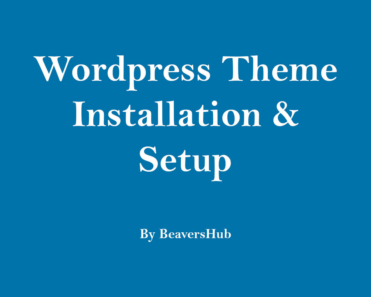 Express WordPress Theme Installation & Setup by ArtyChristina - 105797