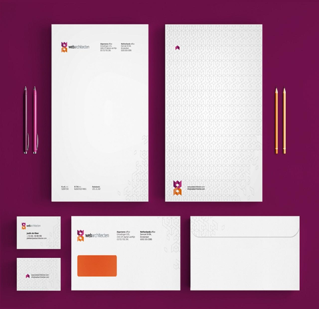 Letterhead Envelopes: Highly Professional Stationery Design By Devrajsinh On