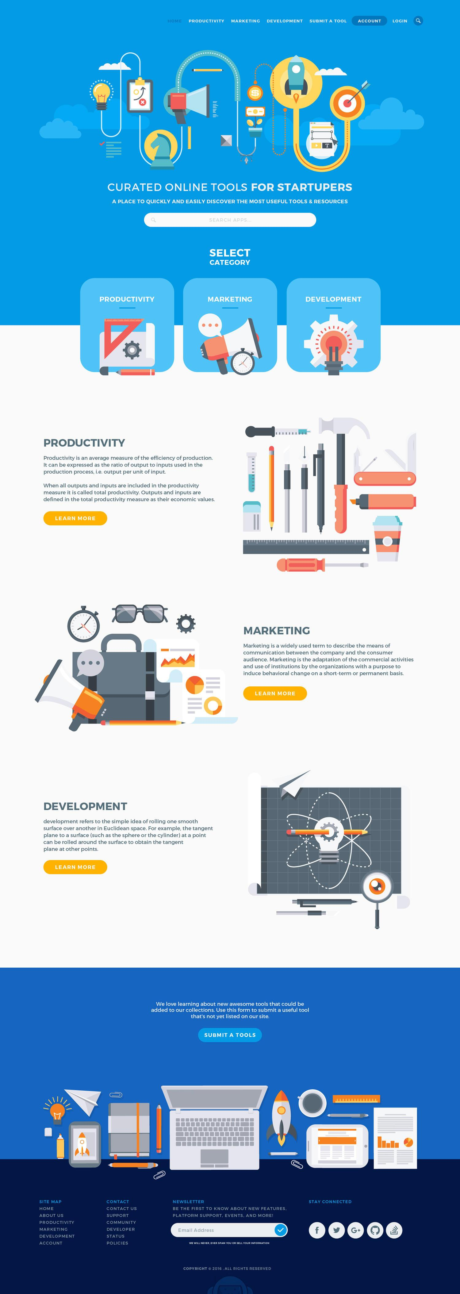 Premium Professional / Flat Style Homepage Design PSD by vector_factory - 103473