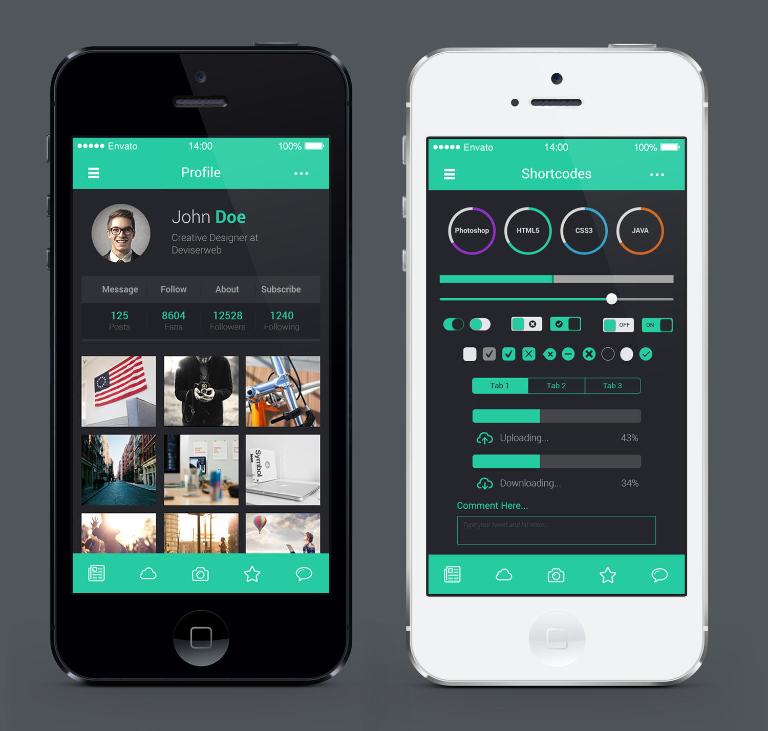 Ios 8 Style Mobile Application Ui Design By Rtralrayhan On