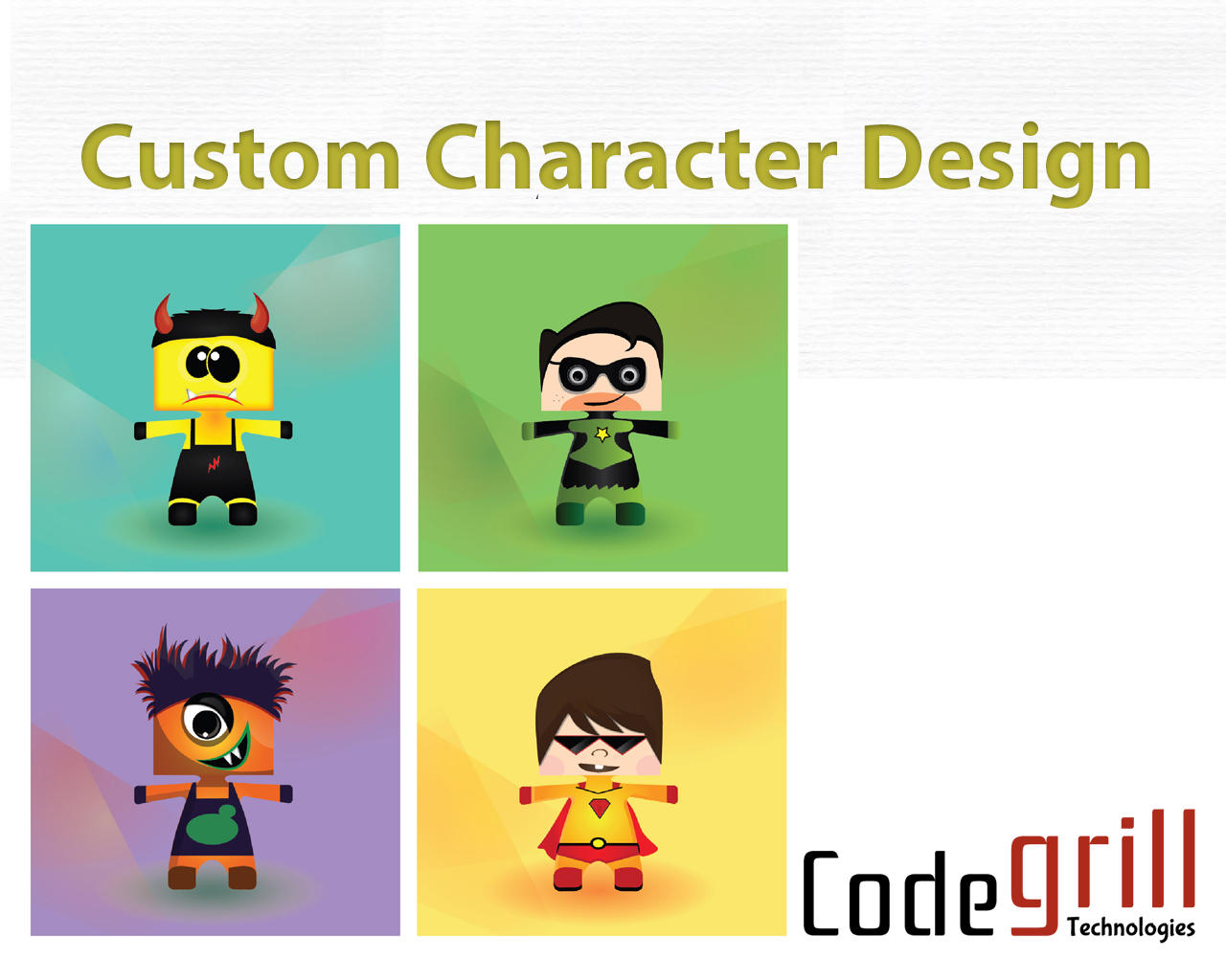 Character Design Web : Character design for games apps website by codegrill