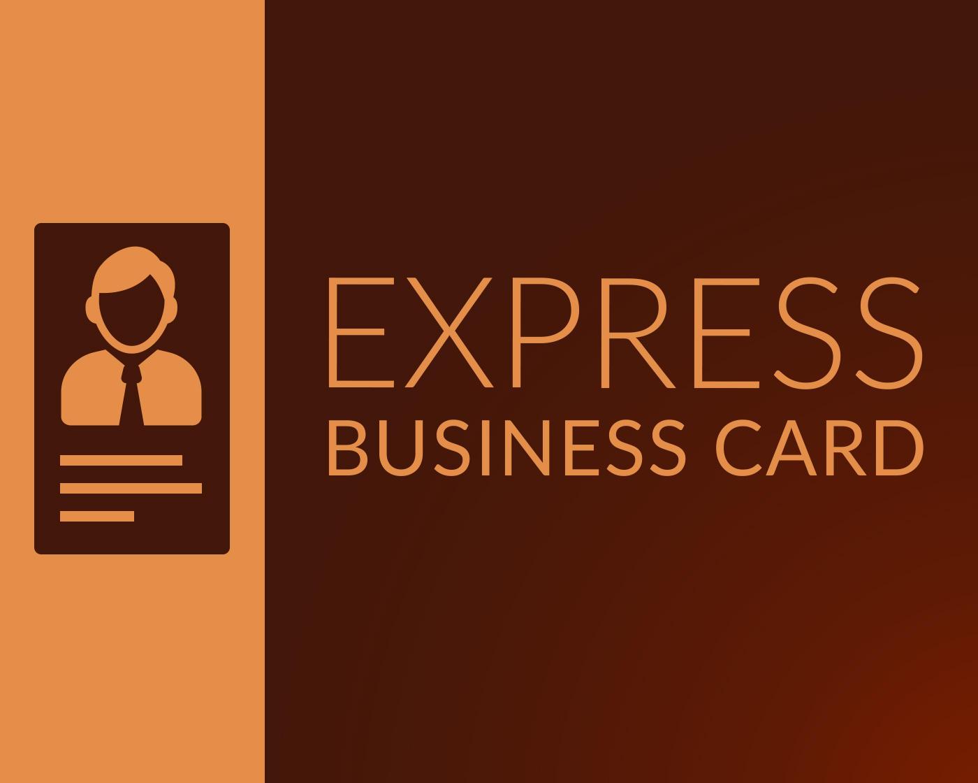 Express Business Card Design by AnasRahmoun on Envato Studio