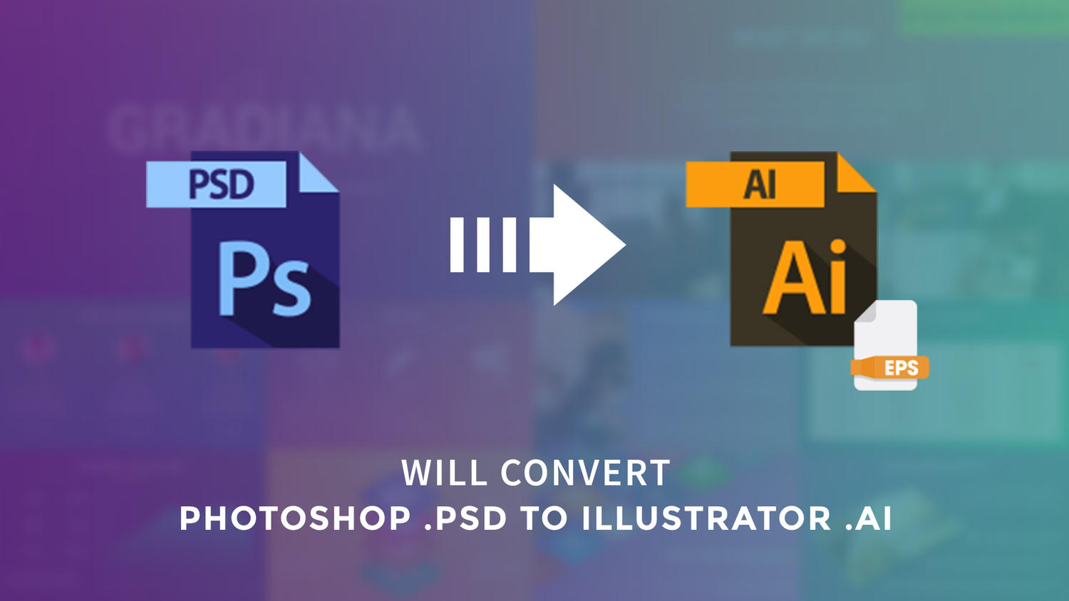 Convert Photoshop PSD to Illustrator Ai by arvaone - 108957