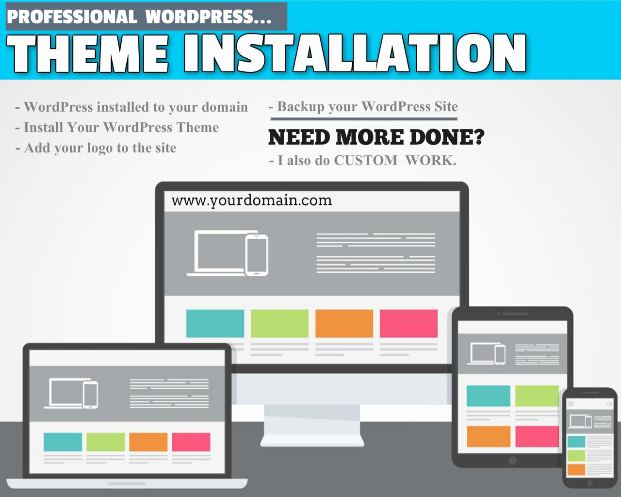 WordPress Theme Installation (Incl. Demo Content, Logo, Plugins, Shop Set-up) by WPJunkiez - 98686