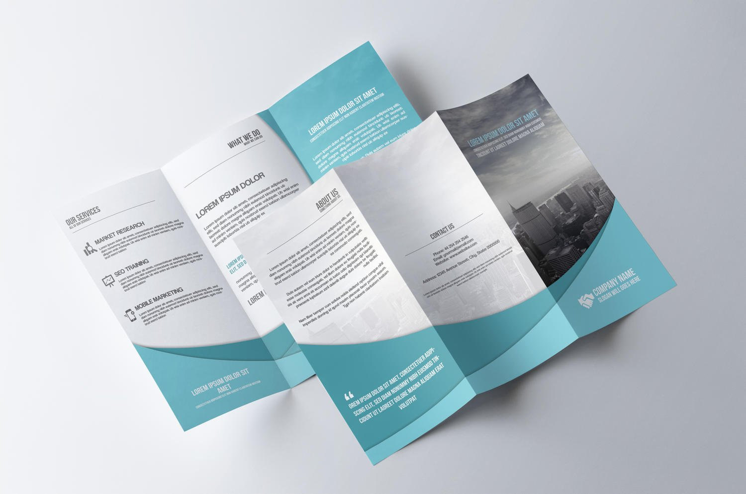 Professional tri fold brochure design by creativeshop7 on for Two fold brochure design