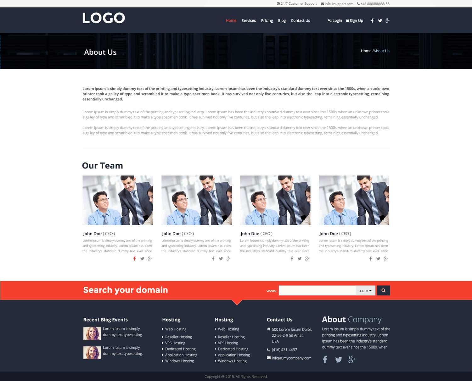 PSD Website Design by Nofomsok - 84416