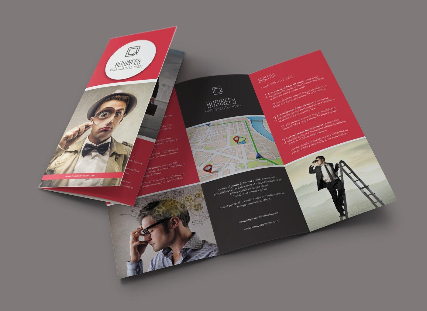 professional tri fold brochure design by vicasso on envato studio