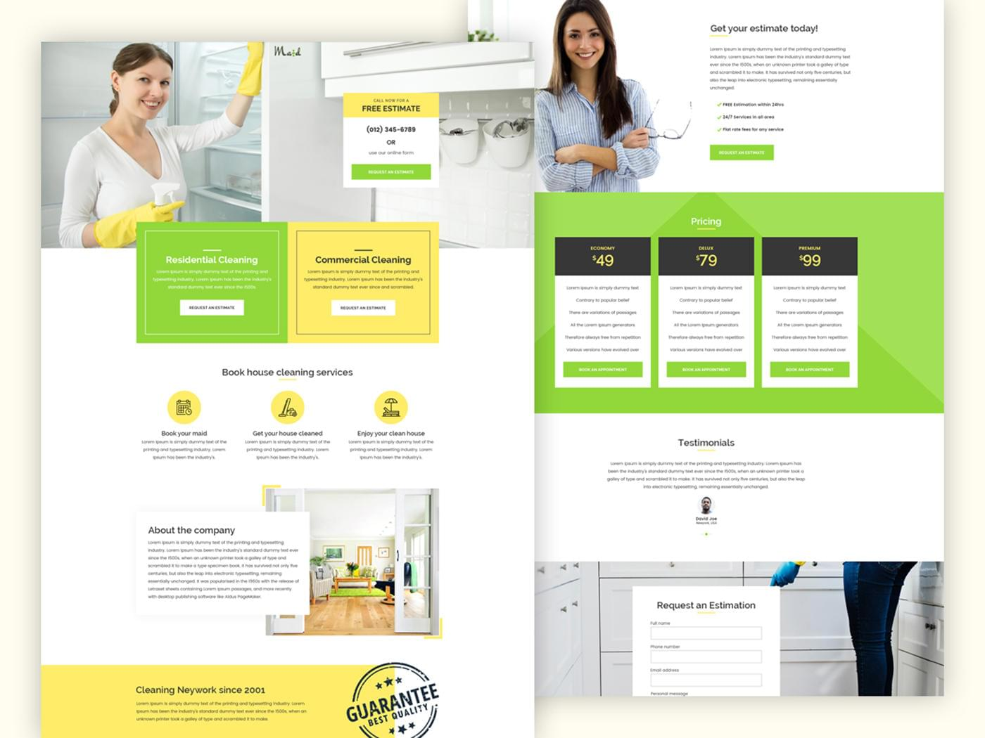 Premium Landing/Single page site design by Bickyg - 115677