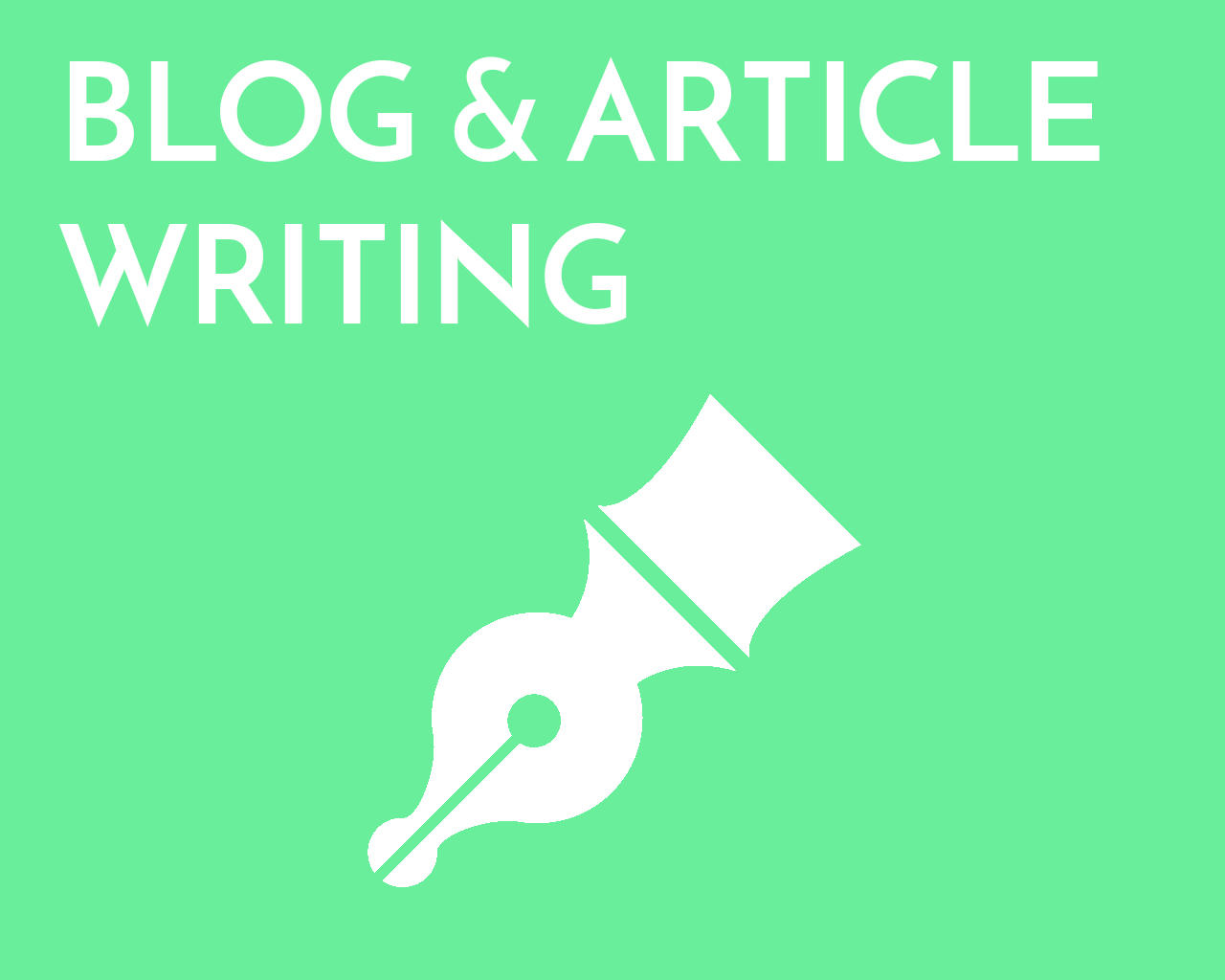 Blog writing service