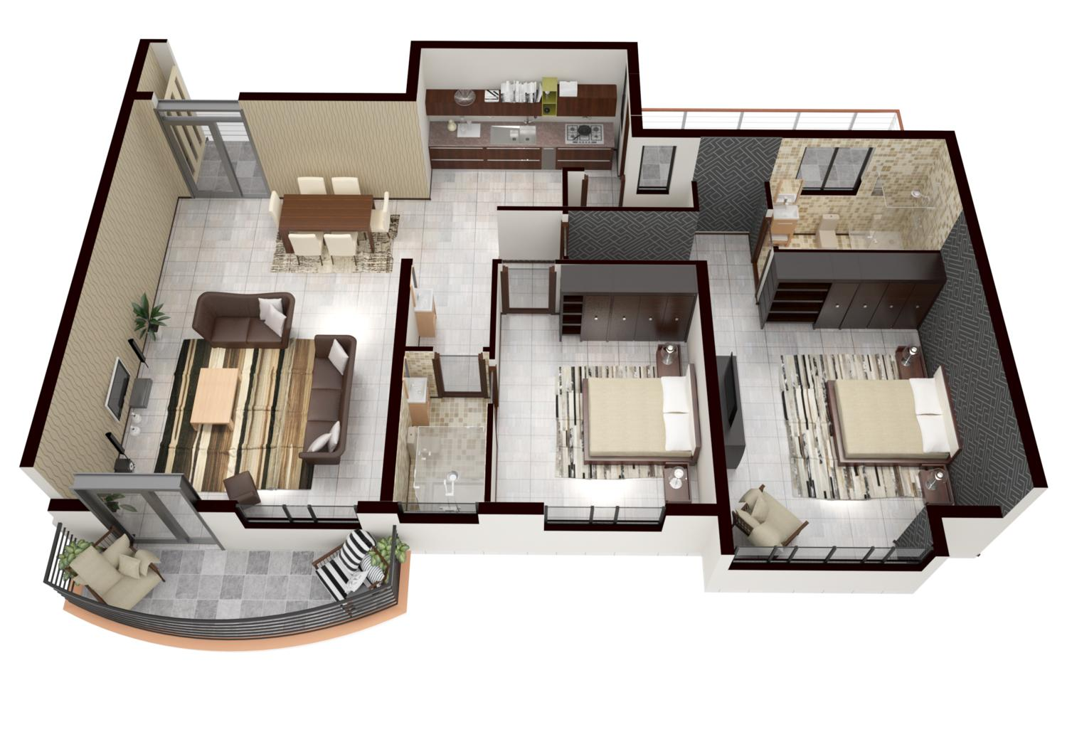 3D Floor Plan Rendering by gesora - 110224