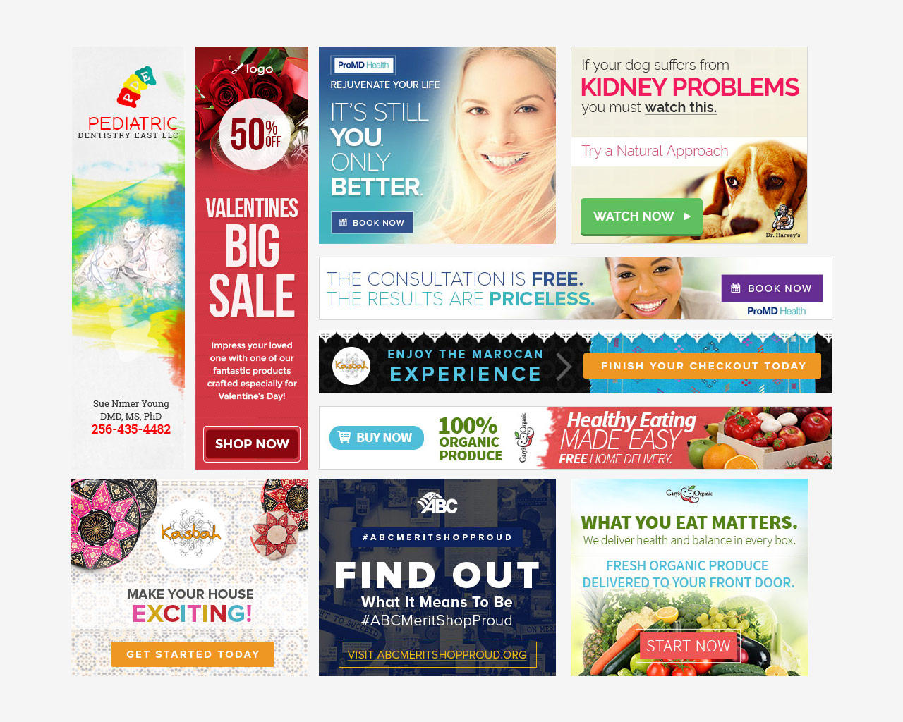 6 Google Ads Professional Banner Set by AscendDevelopment - 99917