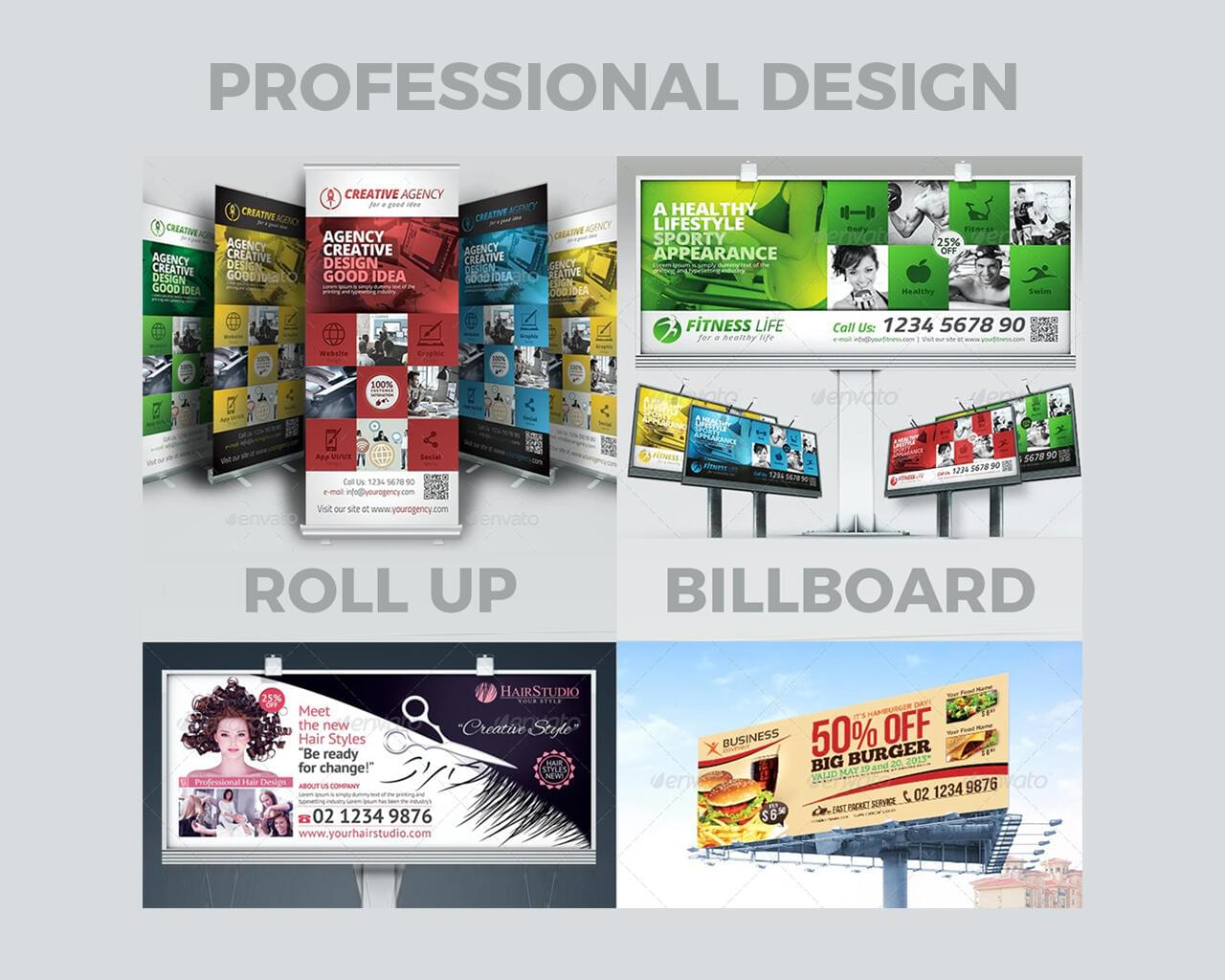 Professional Billboard or Roll Up Banners by hsynkyc - 118171