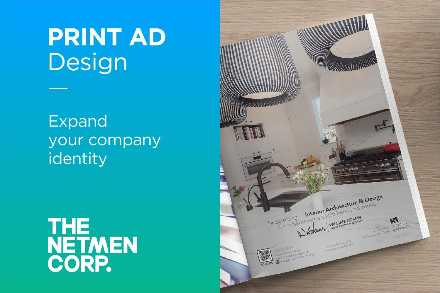Custom and Original Print Ad Design by thenetmen - 119550