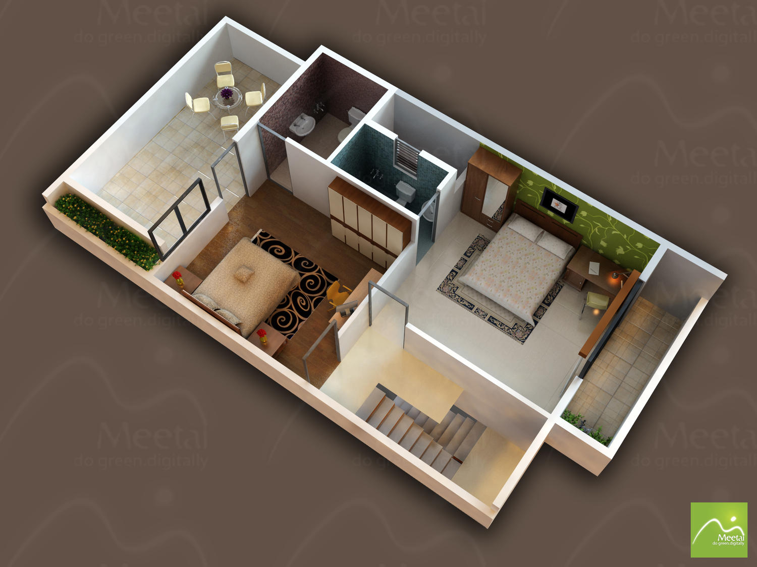 3D Floor Plan Modelling & Rendering by meetai - 36234