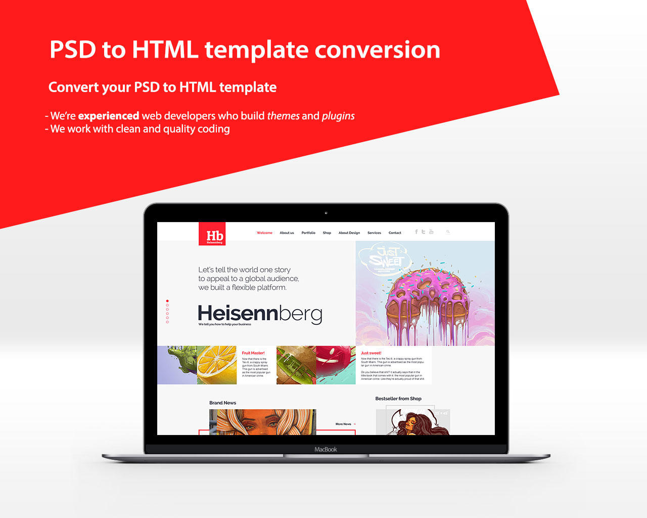 PSD to Responsive HTML Template by VicTheme - 99633