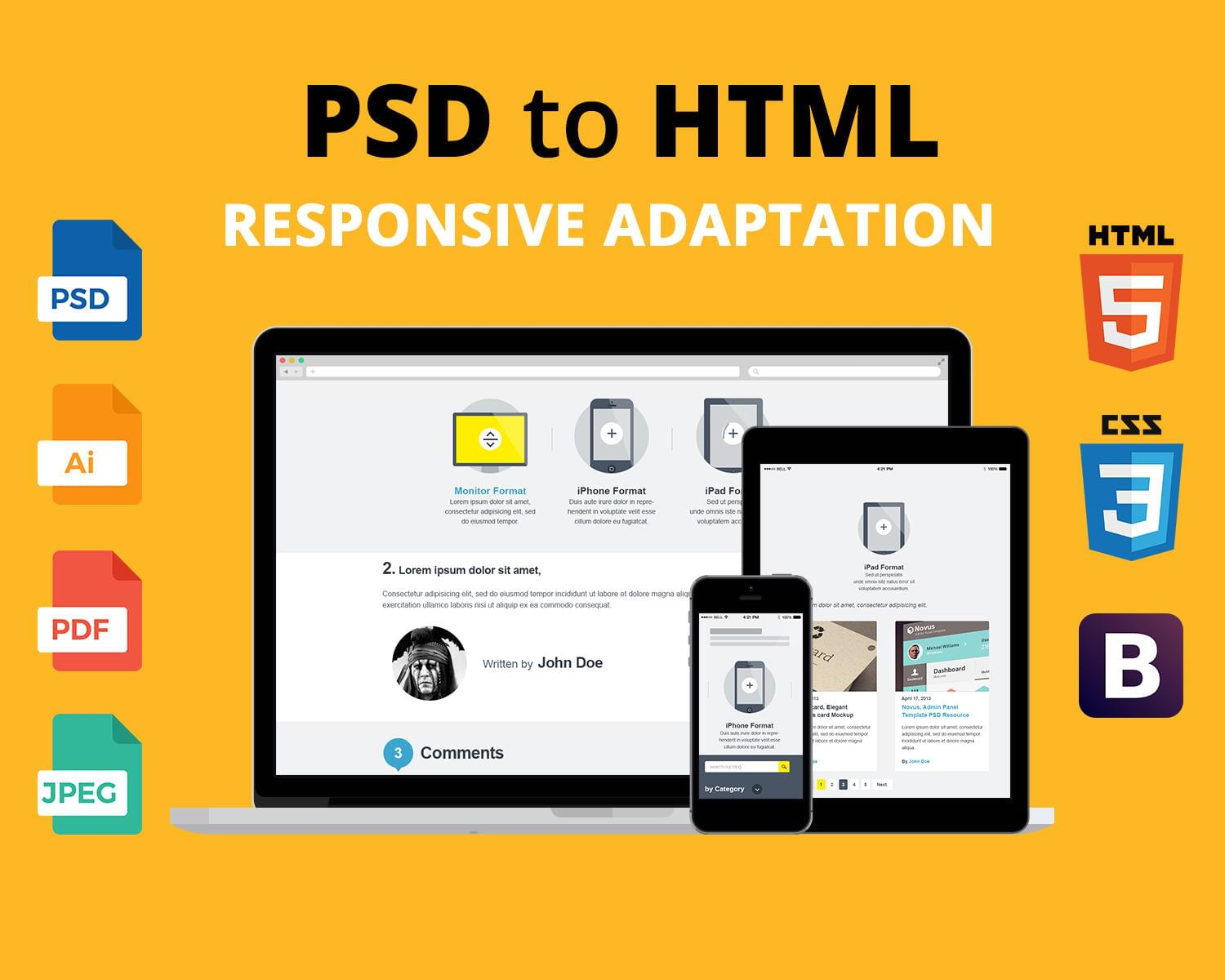 PSD to Responsive HTML5 and CSS3 by RoyalArts - 112425