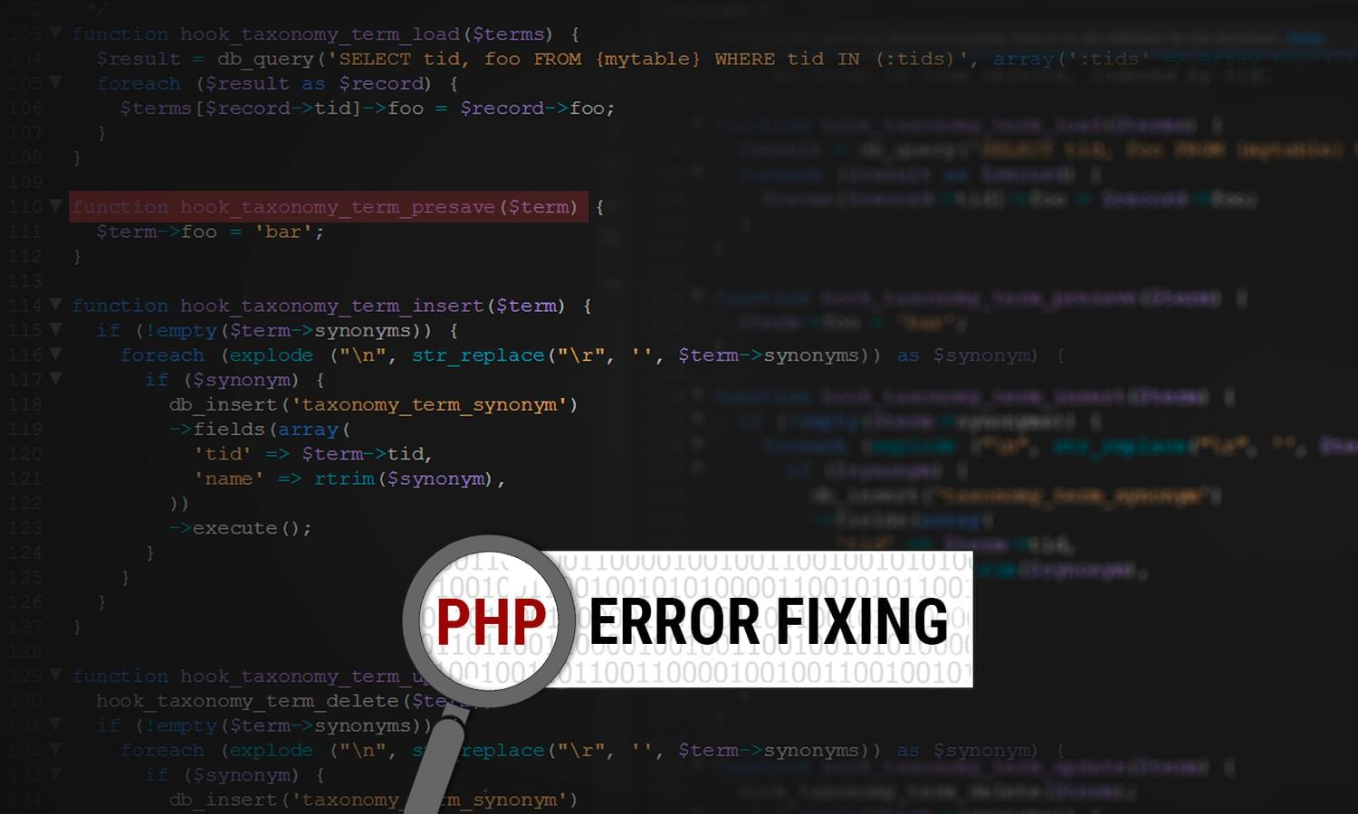 PHP Error Fixing  by madridnyc - 111547