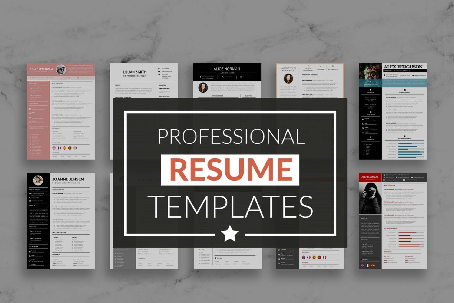 Professional Resume Templates with Cover Letter by carlos_fernando - 117562