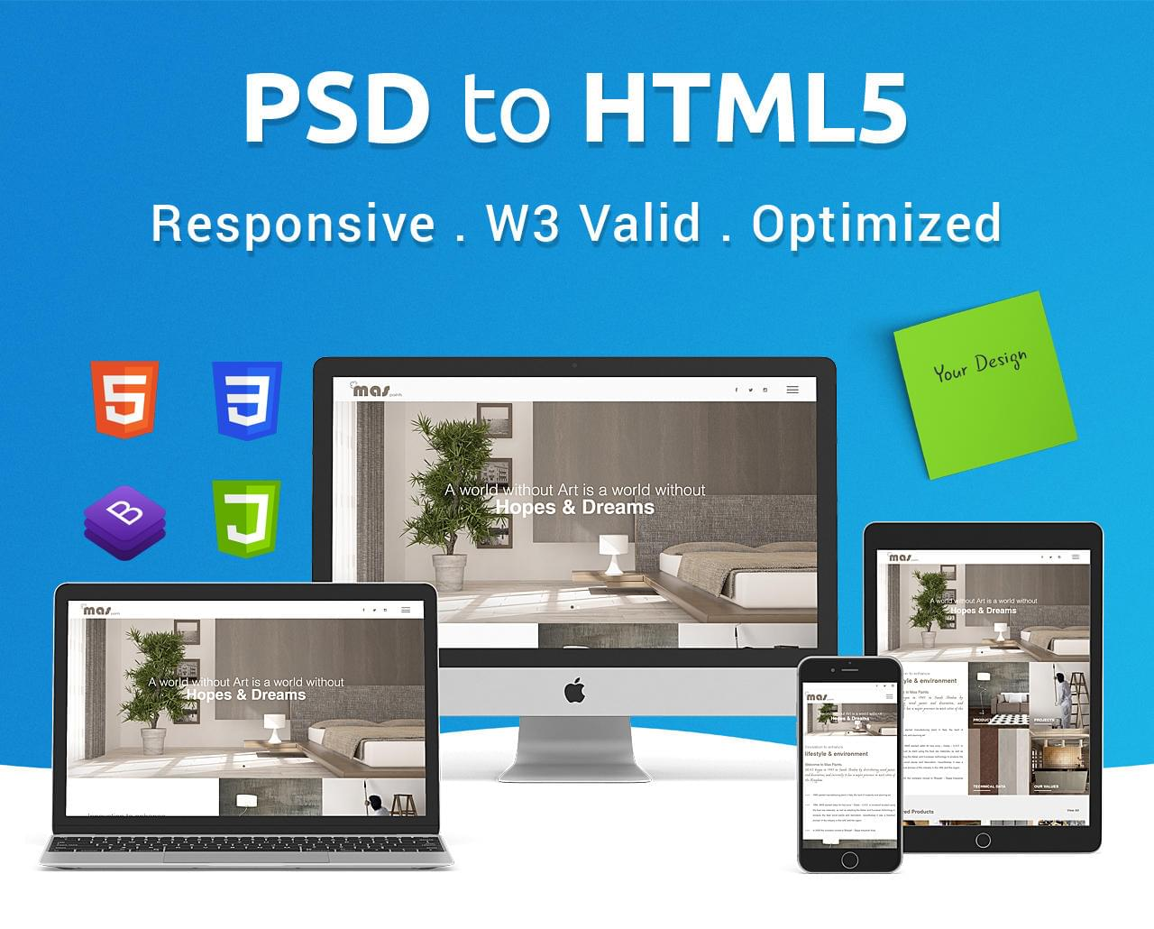 PSD to Responsive HTML5/CSS3 2 Pages (1 Home + 1 Inner Page) by DeCodeUI - 113900