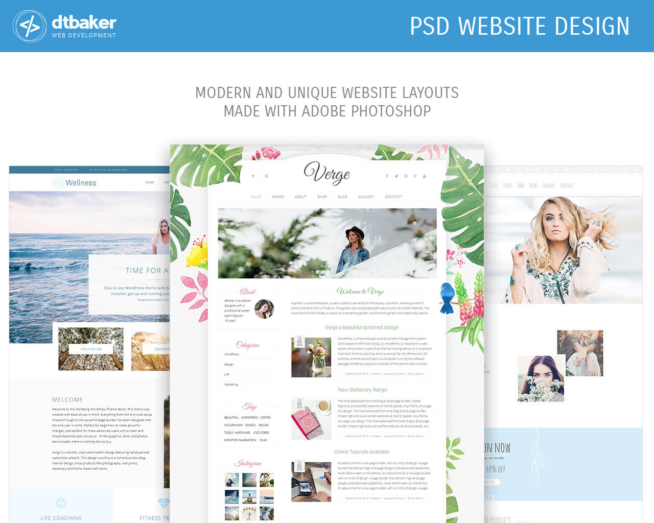 PSD Website Design by dtbaker - 106211