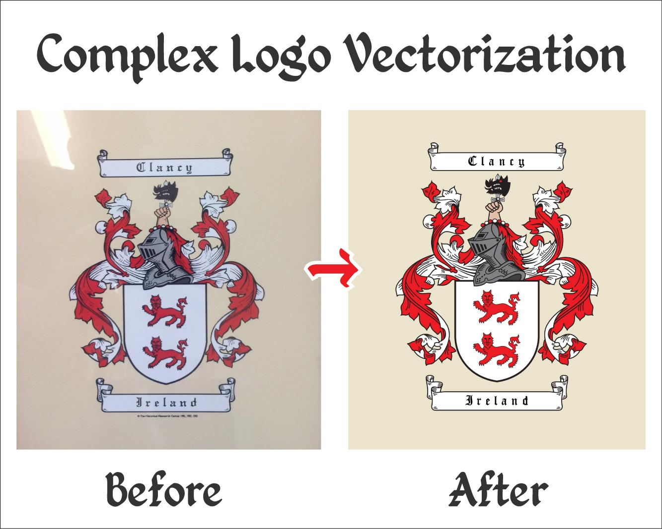 Complex Logo Vectorization & Customization by vectorocean - 78834