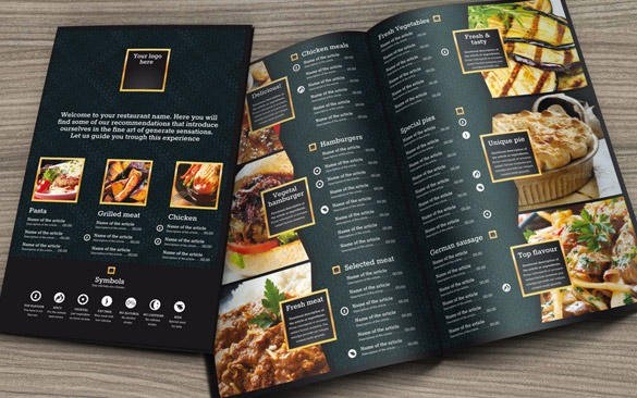 Custom Food Menu Template By RGeneraldesigns On Envato Studio