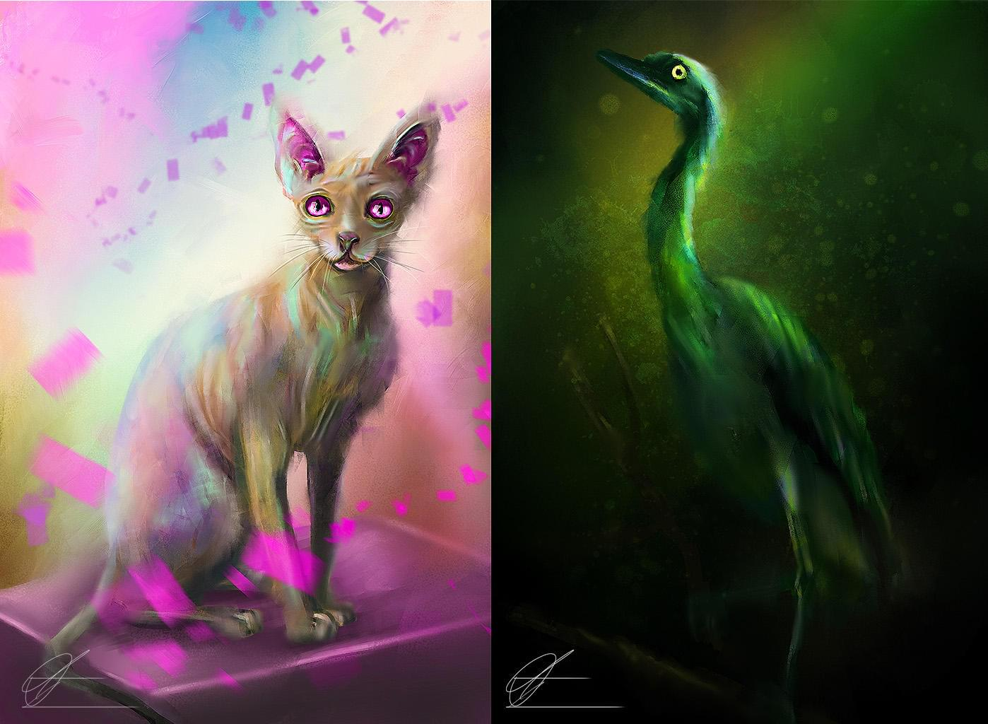 Artistic Style - Digital Painting - Wildlife, Pets, Portraits - Free Style Painting Service by CrArt - 111249