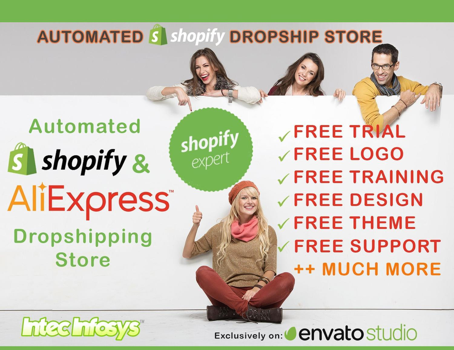 Automated Shopify Dropship store by intecinfosys - 114288