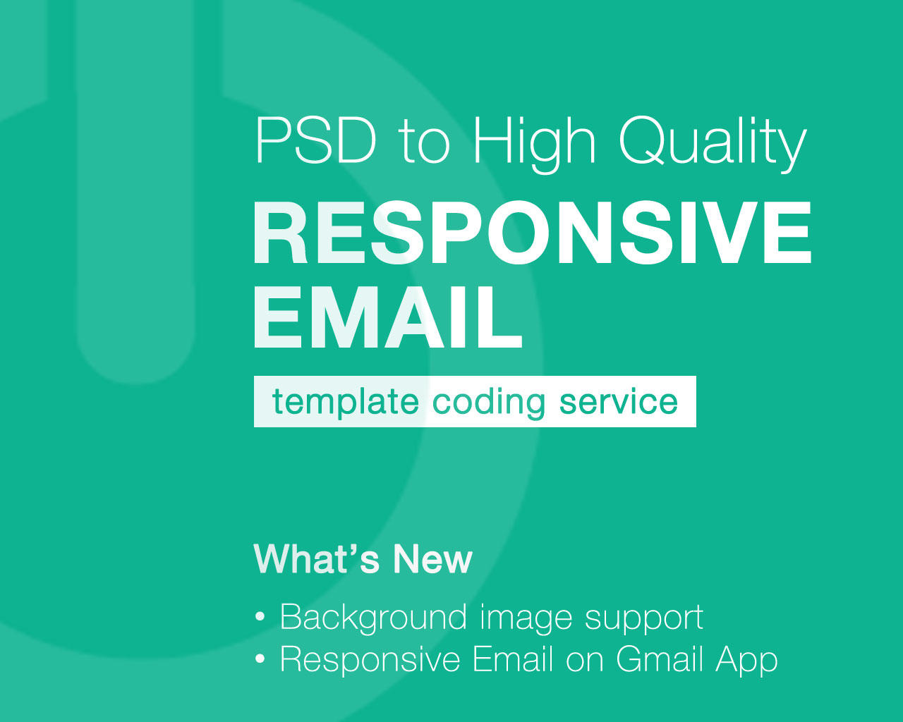 PSD to High Quality Responsive HTML Email Coding Service by theemon - 87590