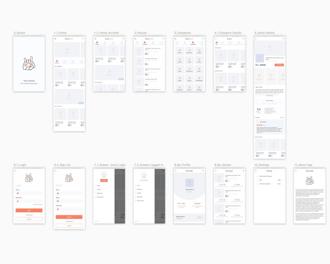 Wireframe Design with User Experience Flow by ubrain - 120202
