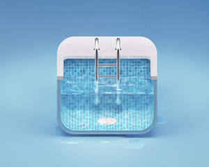 Ios android web app icon design 2d 3d by zomorsky on for Swimming pool design app
