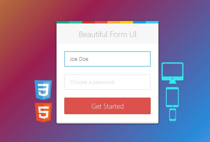 Clean Responsive Web Form Design by elflaire on Envato Studio